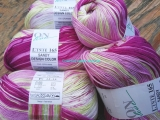 Sandy Design Color - White-light green-pink shades 100g/240m