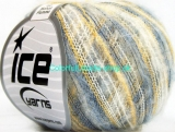 Kid Mohair Flamme Blue, Yellow, White