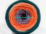 Cakes DK Salmon Orange Lilac Dark Green Brown