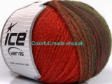 Air Wool Color Orange Khaki Brown 54065