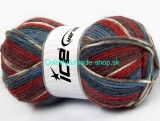 Jacquard Red Khaki Burgundy Blue Shades 58283