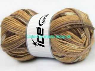 Jacquard Grey Cream Brown Shades 58451