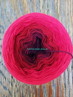 Magic OMBRÉ - Red Rose 4-nitka 250g/1000m