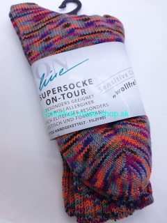 "Supersocke On-Tour Sensitive ""wollfrei"" - 042 - 43/44"