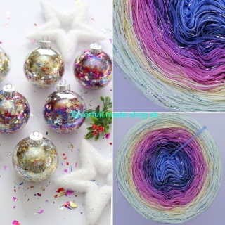 Limited Christmas Edition No.16 - 3-nitka 200g/1000m + glitter multicolor