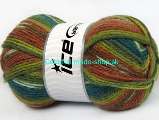 Jacquard Turquoise Green Shades Brown Shades 58289