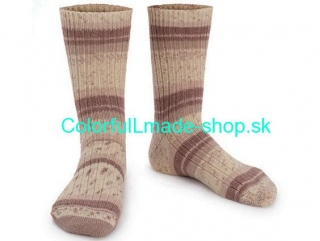 Design Sock Cream Brown