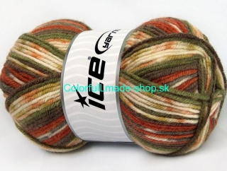 Magic Jacquard Khaki Cream Copper Brown 59056