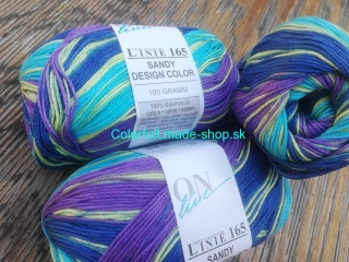 Sandy Design Color - Turquoise-purple-green multicolor 100g/240m