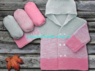Baby Ombre Pink Grey 63244