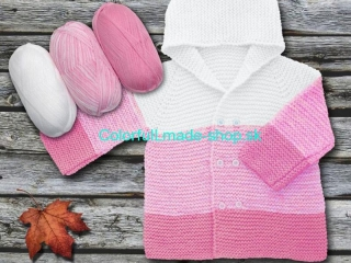 Baby Ombre White Pink 63241
