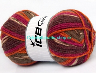 Jacquard Purple Orange Fuchsia Brown Shades 58279