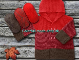 Baby Ombre Red Brown 63224