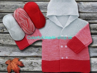 Baby Ombre Red Light Grey 63225