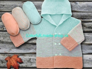 Baby Ombre Mint Light Green Orange 63231