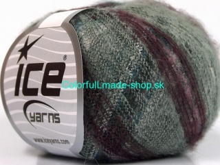 Kid Mohair Flamme Turquoise Maroon Lilac Grey Shades