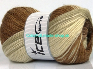 Mohair Magic Glitz Brown Shades, Cream