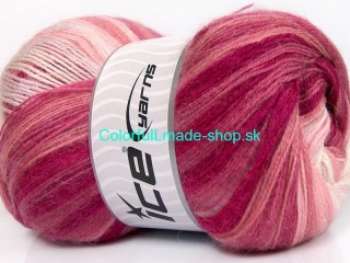 Mohair Magic Pink Shades, White