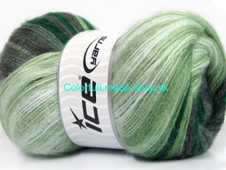 Mohair Magic Green Shades, Grey Shades, White