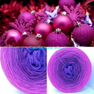 Limited Christmas Edition No.9 - 4-nitka 250g/1000m + glitter rubis