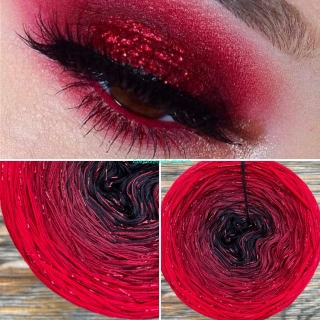 Limited Edition No.45 - 3-nitka 200g/1000m + glitter rot