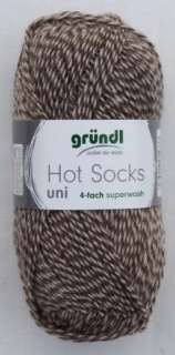 Hot Socks Uni 50 - Braun mouline 770-26