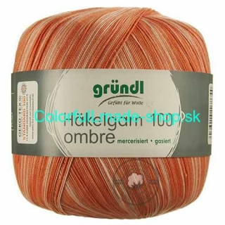 Hakelgarn 100 ombre - Orange - 3528-05