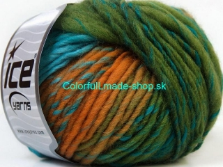 Vivid Wool Turquoise Purple Navy Green Gold 34608