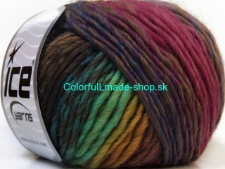 Vivid Wool Purple Pink Green Shades Camel 34606