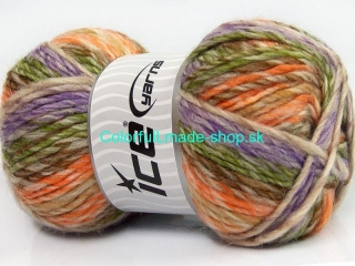 Mystique Orange Lilac Green Brown Beige 40820