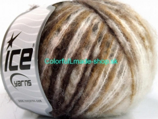 Sale Self-Striping White Brown Shades 54098