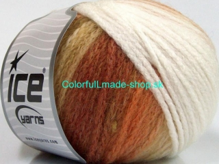 Air Wool Color White Brown Shades 54059