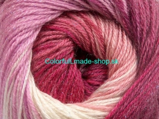 Mohair Magic Glitz Salmon Pink Shades Maroon Cream 50324