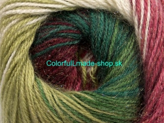 Mohair Magic Glitz White Green Shades Burgundy 50322