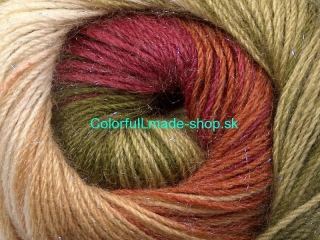 Mohair Magic Glitz Green Shades Burgundy Brown 50321
