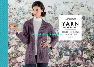 Yarn The After Party - Herringbone Cardigan - návod na háčk.sveter