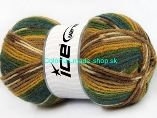 Jacquard Green Shades Gold Brown Shades 58288