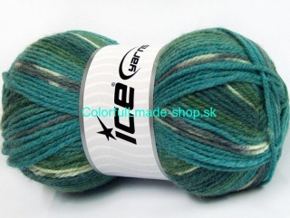 Jacquard Turquoise Grey Green Shades 58287