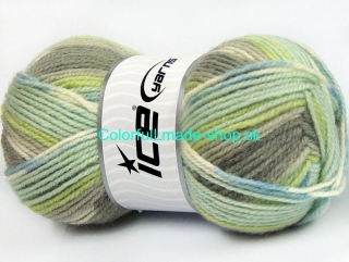 Jacquard Grey Shades Green Shades Blue 58285