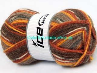 Jacquard Grey Gold Cream Copper Brown Shades 58278