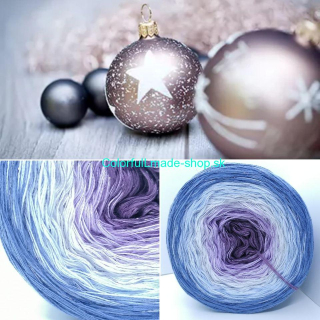 Limited Christmas Edition No.4 - 4-nitka 250g/1000m + glitter dark silver